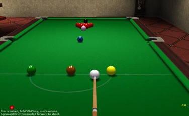 Screenshot of 3D Online Snooker